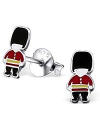 Queen's Guard Earrings - Sterling Silver