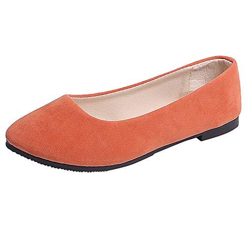 Yesmile Stiefel Damen Flachschuhe Einzel Schuhe Frauen Sandalen Casual Halbschuhe Comfort Sohle Freizeitschuh Wildleder
