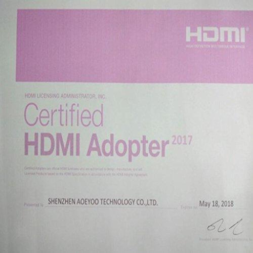ELECTROPRIME® 90 Degree Right Angle Mini HDMI Male to HDMI Female Adapter Converter Cord