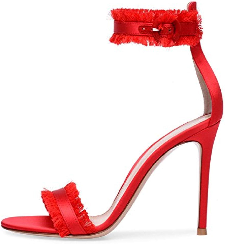 Ms Sandali Rossi Sardin Nappe Sandali Tacco Alto Sandali Scarpe Di Grandi Dimensioni Moda Donna Scarpe,rosso,45 | Una Grande Varietà Di Prodotti  | Scolaro/Ragazze Scarpa