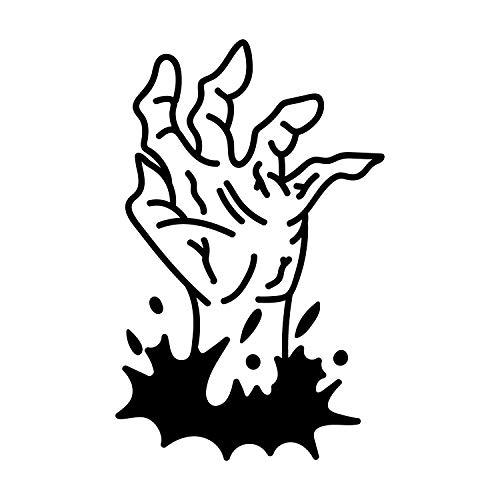 Wandtattoo aus Vinyl - Zombie-Hand, 78,7 x 50,8 cm, lustiger Gruseliger Halloween-Dekoration, Aufkleber - Teenager Erwachsene Innen Außen Wand Fenster Wohnzimmer Schlafzimmer Home Office Decor (Halloween Dekorationen Billig)