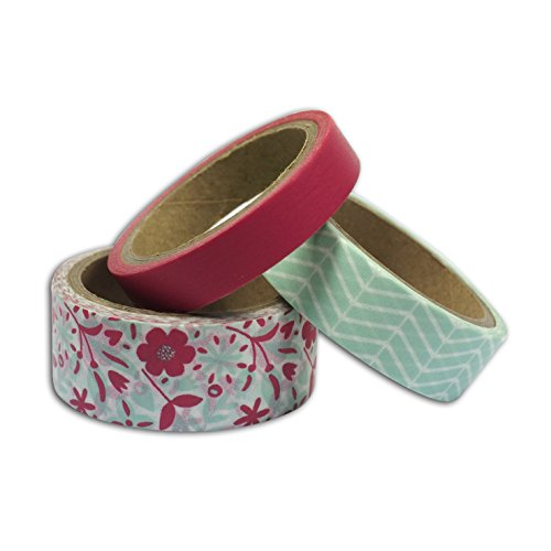 toga-mt114-3-washi-tape-blumen-und-chevron-washi-tape-mint-koralle-65-x-9-x-5-cm