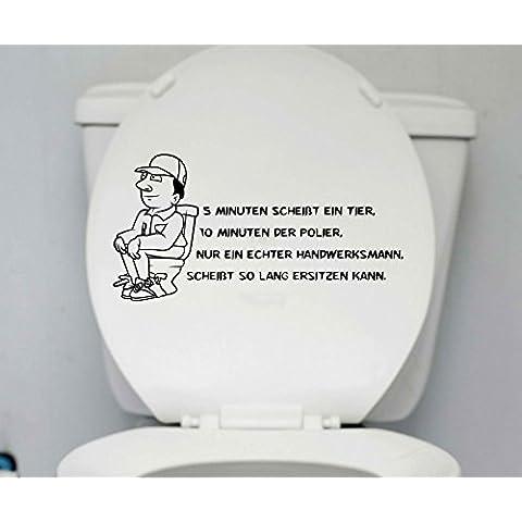 decalcomania coperchio WC Artigiano Bagno divertente Detto