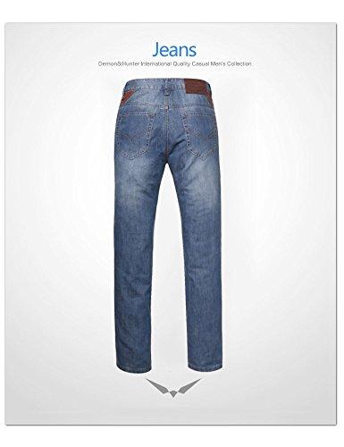 Demon&Hunter 8003x29–Jean coupe droite pour homme, taille 29W/Regular Couleur8003/bleu nostalgie DH8003 x Bleu