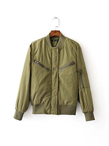 MEI&S Womens court régulièrement Down Jacket Coat en coton épais green