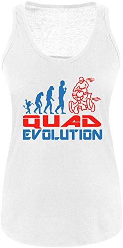 EZYshirt® Quad Evolution Damen Tanktop Weiss/Blau/Rot