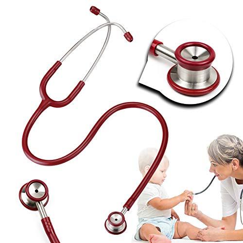 ZZYYZZ Estetoscopio clínico de Doble Cara y Doble Cara de Acero Inoxidable Estetoscopio...