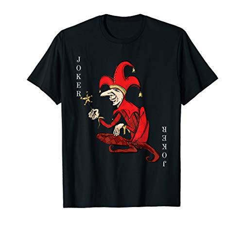 Red Jester Kostüm - Joker Wild Spielkarte Halloween Kostüm Red Court Jester T-Shirt