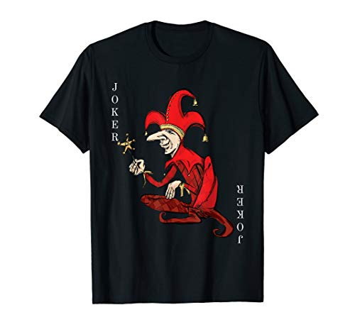 Jokers Kostüm Wild - Joker Wild Spielkarte Halloween Kostüm Red Court Jester T-Shirt
