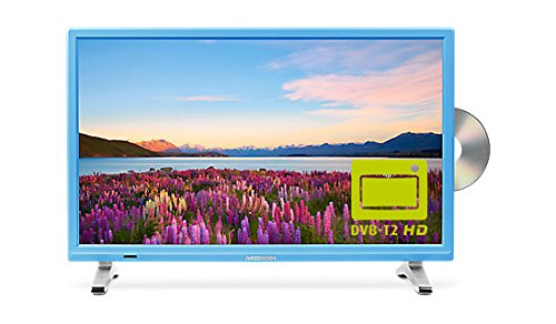 MEDION Life P12501 MD 21501 54,6 cm (21,5 Zoll Full HD) Fernseher (LCD-TV mit LED-Backlight, Triple Tuner, DVB-T2 HD, HDMI, CI+, integrierter DVD-Player und Medienplayer) blau -