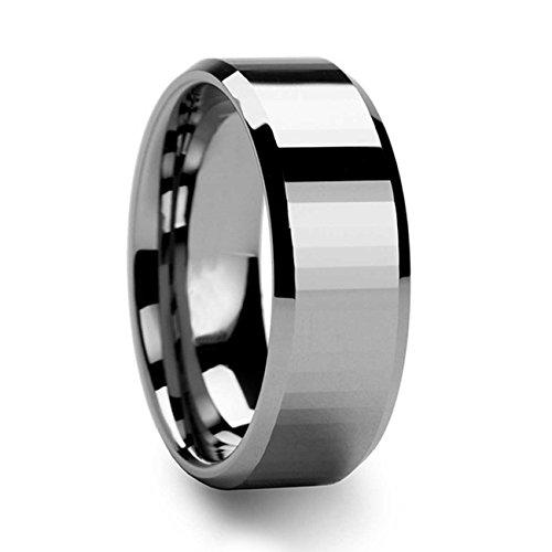 NELSON KENT Herren Damen Blasen Anfasender Wolframstahl Ring Größe65(20.7)