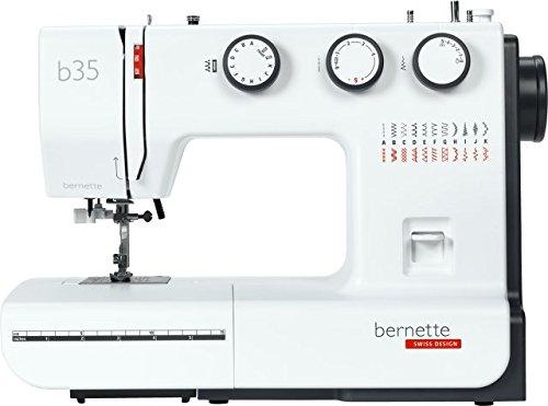 Bernette 35 | Die preiswerte Nähmaschine für Einsteiger | inklusive 23 Stichen und 7 Nähfüßen (Sohlen)