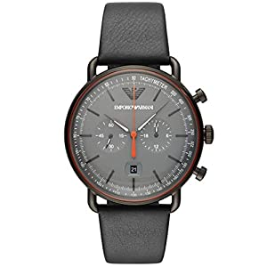 Emporio Armani Reloj Cronógrafo para Hombre de Cuarzo con Correa en Cuero AR11168