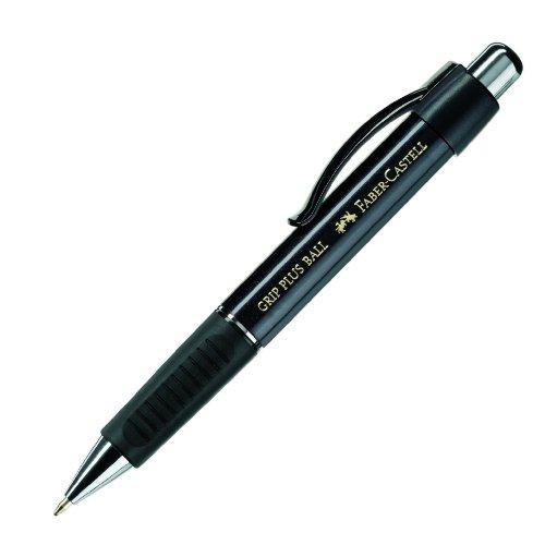 Preisvergleich Produktbild Faber-Castell 140733 - Kugelschreiber GRIP PLUS BALL, Mine: M, Schaftfarbe: metallic schwarz
