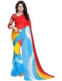 GoSriKi Silk with blouse piece Saree (SALONI RED_ FS)