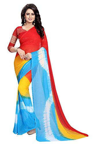 Kanchan Chiffon Saree For Women & Girls Ideal For Parties & Functions(KTSALONI...