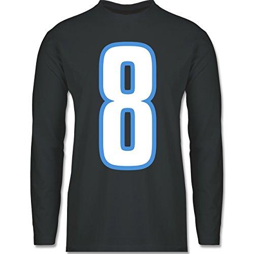 Shirtracer American Football - Football Tennessee 8 - Herren Langarmshirt Dunkelgrau