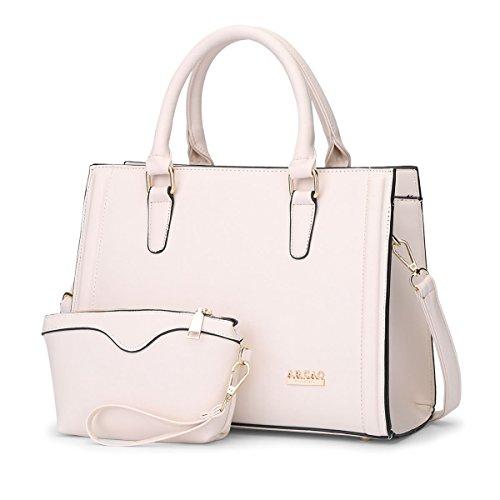 HQYSS Borse donna Pelle Donna PU OL Shoulder Handbag Messenger solido Colore Crossbody Bag Borsa Telefono Pacchetto 2 piece set , red meters white