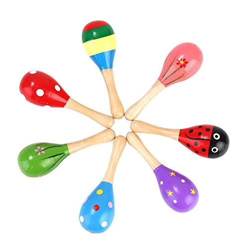 e Sand Hammer Baby Toys Holz Rassel Shaker Musical Educational, Kleinkind Kids Lernen Spaß Musical Toys ()