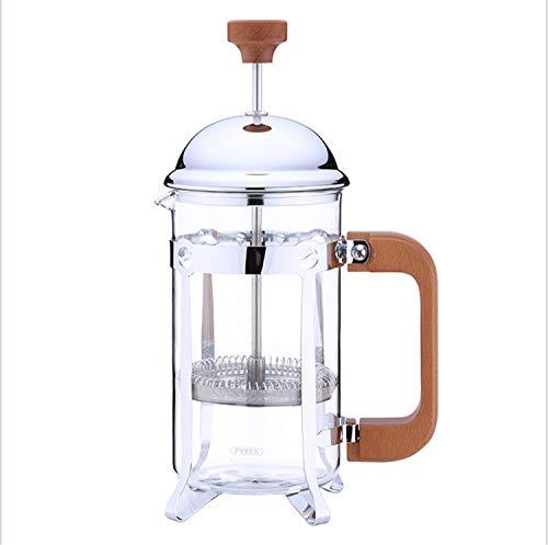 UNIQUE-F Reise Home Office French Pressure Kaffeekanne Edelstahl Borosilikatglas Ersatzfilter 350 Ml 600 Ml