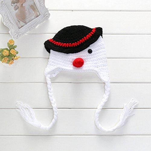 Pixnor-Mueco-de-nieve-sombrero-fotografa-Prop-del-Knit-del-beb-recin-nacido-nia-nio-Crochet