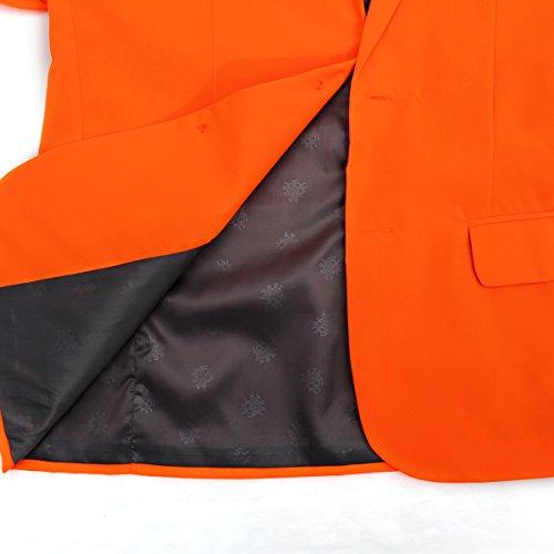 Modisch Herren Party Anzug Weihnachten Kostüme Festliche Anzüge Party Suits in Normalem Schnitt von YOU LOOK UGLY TODAY Orange