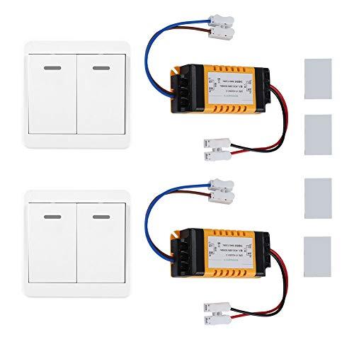 WiFi Kit de Interruptor Inteligente Inalámbrico de Doble Canal de Control con...