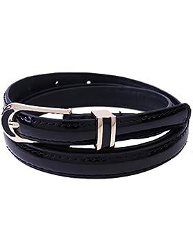 zolimx Cinturones de mujer, Accesorios vintage Casual fino cuero correa