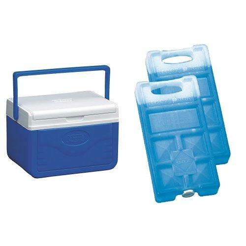 Coleman Kühlbox Fliplid 5 & Campingaz Freezpack 2er Pack