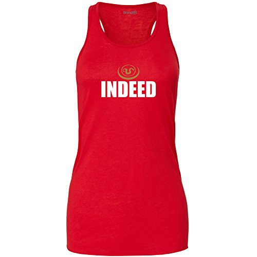 Brand88 - Indeed Damen Flowy Racer Tank Top Rot