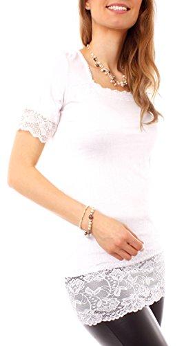 Easy Young Fashion - T-shirt - Femme Blanc - blanc
