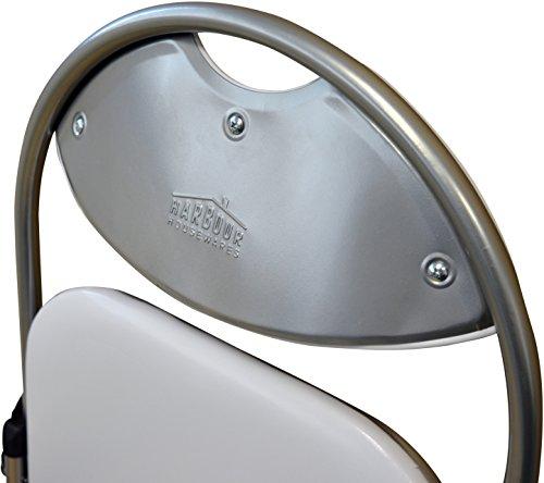 Harbour Housewares White Padded, Folding, Desk Chair – Pack of 6