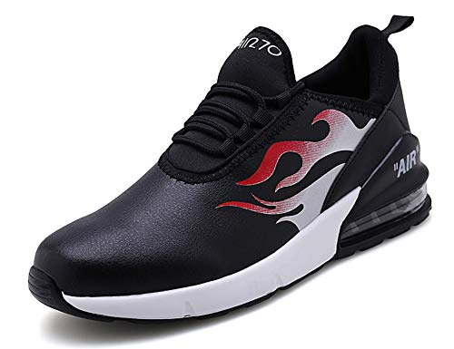 GNEDIAE Uomo Air 270 a Collo Basso Scarpe da Ginnastica Running Sportive Interior all'Aperto Tennis Fitness Basse Sneakers Nero 41 EU