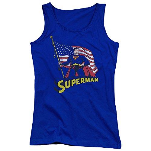 Superman - Débardeur drapeau américain des jeunes femmes - Royal