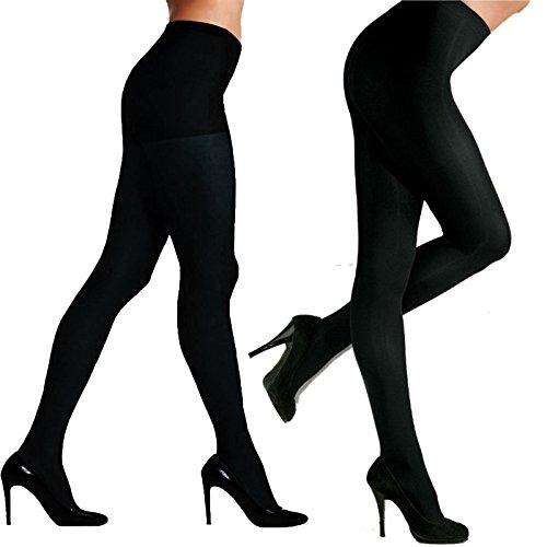 Valentina Damen komplett Strumpfhose Damen Größen S M XL XXL Mikrofaser Strumpfband Beine Strümpfe schwarz - VE voll Strumpfhosen schwarz, XXL (44) (Mikrofaser-strumpfband)