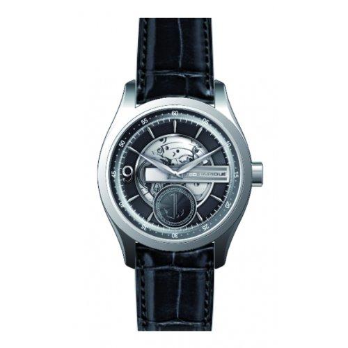 Ted Lapidus 5122501 - Reloj analógico de cuarzo para hombre con correa de piel, color negro