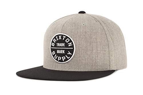 Brixton Cap OATH 3  heather grey/black, One Size, BRIMCAPOAT3
