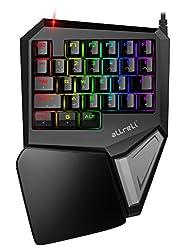 aLLreli Mechanische Gaming Tastatur, T9 Plus Gaming Keyboard Keypad (29 Programmierbare Tasten, RGB LED-Beleuchtung)