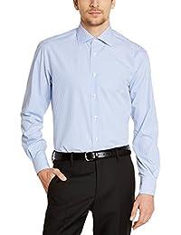 Tommy Hilfiger Tailored JAK SHTSTP99002 - Chemise habillée - Coupe droite - Manches longues - Homme
