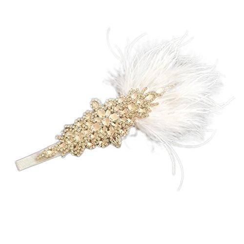 Sharplace Retro 20er Jahre Haarband Flappers Stirnband 1920s -