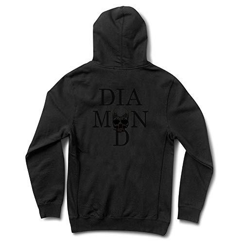 Diamond Supply Co. Men's Skull Pullover Hoodie Black XL (Pullover Supply Diamond Co)