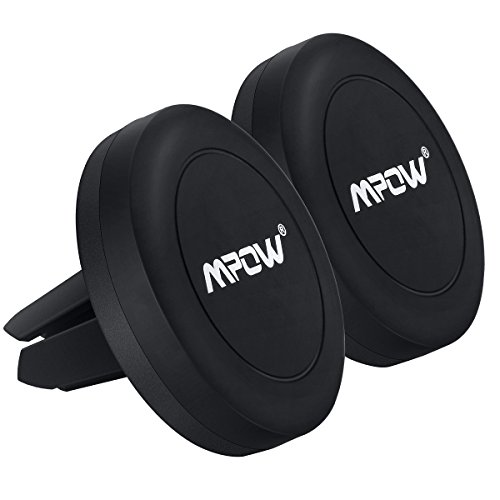 Autohalterung Mpow 2 Stück KFZ handyhalterung Magnetische Lüftung Handyhalterung Universal KFZ Lüftungsschlitz-Halterung für iPhone,Samsung,HTC,Huawei,Sony,Nokia usw.
