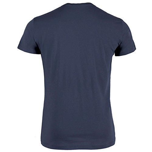 DATSCHI Trachten T-Shirt Greiz Kruzifix - Bio Baumwolle - S-XXXL Trachtenshirt Oktoberfest Bayrisches-Shirt Wiesn Lederhosen Männer Herren Hirsch Österreich (L, Navy-Weiss) - 2