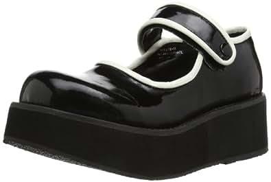 Demonia Sprite-01, Chaussures bateau Femme - Noir (schwarz), 38 EU