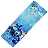 TAOtTAO Tapis de Porte d'entrée de Noël pour Salle de Bain, Bleu Ciel, About 60cm x 180cm/24 x 71 inch