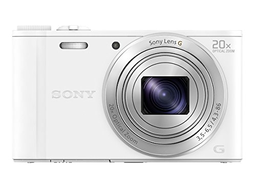 Sony Cybershot DSC-WX350/W 18.2MP Digital Camera (White)