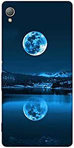 Snoogg Full Moon Reflection Designer Protective Back Case Cover For Sony Xper...