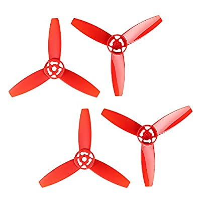 i.VALUX Main 3-Blades Propeller Rotor Props Replacement for Parrot Bebop Drone 3.0 RC Quadcopter, Red