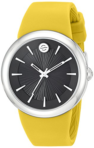 Philip Stein Unisex-Adult Analog Japanese-Quartz Watch with Silicone Strap F36S-LCB-Y