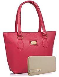 Flora Premium PU Leather Women's Handbag With Adjustable Strap (Black Color)